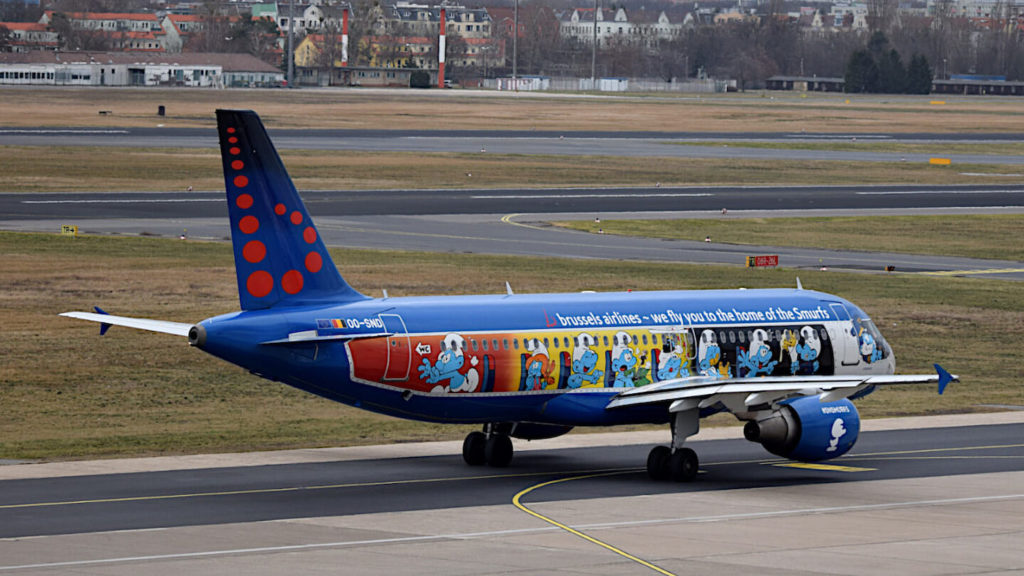 A Brussels Airlines plane on the ground. Casperflights no longer shows such aircraft movements on radar.