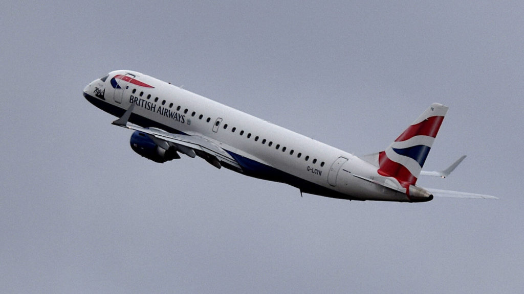 A British Airways plane at takeoff. Once these aircraft movements could be followed with Casperflights.