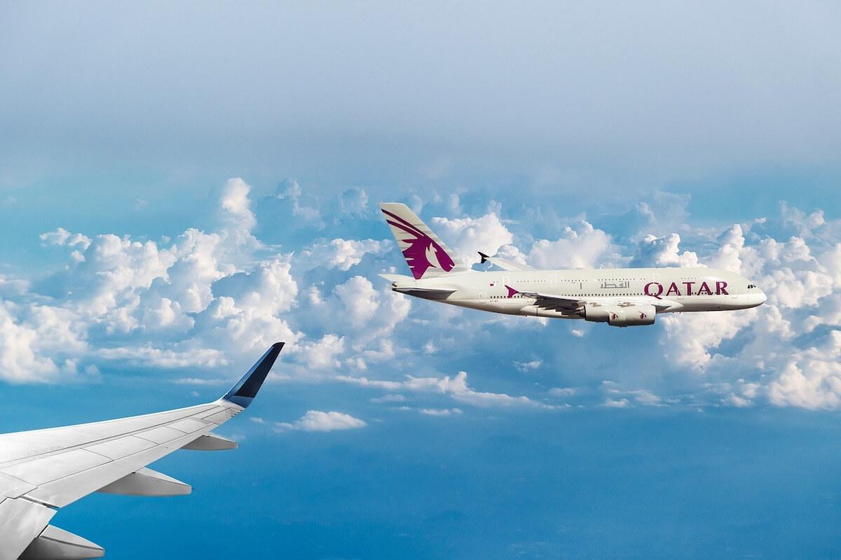 Flygspårning: Nästan 100 % av alla passagerarflygplan i världen kan spåras med flygradar. Här ett flygplan från Quatar Airways.